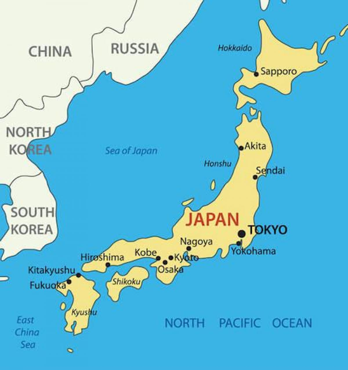 japan karta Djeca mapu japan   Japan karta za djecu (Istočna Azija   Aziji) japan karta